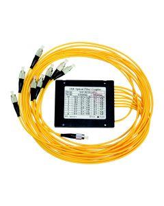 Invacom GI-SPLIT 8OF optinen jakaja, 1 x FC/PC - 8 x 1 m kaapeli FC/PC