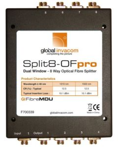 Invacom Split8-OFpro optinen jakaja, 1 x FC/PC - 8 x FC/PC