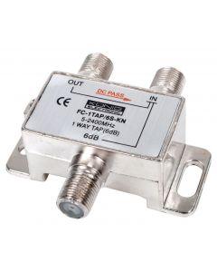 König haaroitin 6 dB, 1 F naaras - 2 F naaras, 5-2400 MHz, metallikotelo