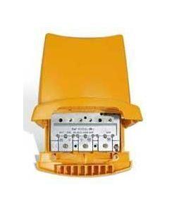 Televés 535840 UHF/UHF/VHF/FM mastovahvistin ja yhdyssuodin, 38 dB, 1 ulostulo, LTE800 suojattu