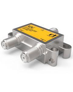 Inverto Unicable II jakaja, 1 F naaras - 2 F naaras, 5-2400 MHz, metallikotelo