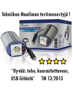 HQ Invertteri 12 V > 230 V, 150 W, USB