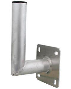 Seinäkiinnike, L-mallinen, 150 mm, Ø50 mm, alumiinia