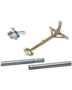 Mastopaketti: 1500-6000 mm x 40 mm masto + kiinnikkeet, galvanoitua terästä
