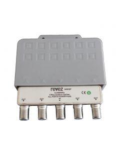 Revez jakaja, 1 F naaras - 4 F naaras, 5-2400 MHz, suojakotelo ulkokäyttöön