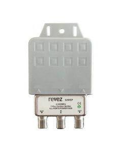 Revez jakaja, 1 F naaras - 2 F naaras, 5-2400 MHz, suojakotelo ulkokäyttöön