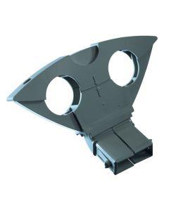 Triax DuoBlock sivusyöttö, 6° Triaxin ja Inverton satelliittiantenneille, harmaa
