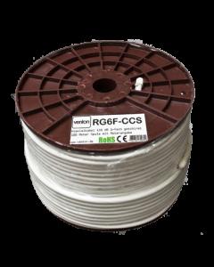 Venton antennikaapeli RG-6, 135 dB, 6,9 mm, 100 m, valkoinen
