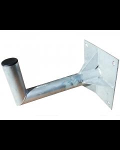 Seinäkiinnike, L-mallinen, 400 mm, Ø60 mm, galvanoitua terästä