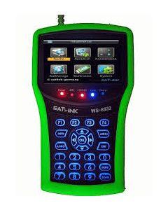 """Satlink WS-7009SE HD satelliitti- & antennimittari & spektrianalysaattori, DVB-S2/T2 viritin, 4,3"""" LCD-näyttö - takuukorjattu"""