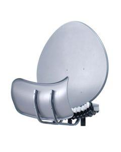 Satelliittipaketti 90 cm Toroidal 4 satelliitin vastaanottoon, 4 virittimelle