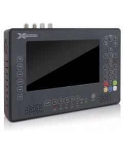 """Amiko X-Finder 2 Plus satelliitti-, antenni- ja kaapelimittari & spektrianalysaattori, DVB-S2/T2/C viritin, 7"""" LCD-näyttö"""