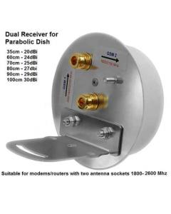 3G/4G/LTE MIMO antenni satelliittilautaselle, 1800-2100 MHz, 2 ulostuloa, N naaras