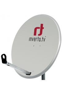 Inverto Home Pro satelliittiantenni 120 cm, Easy-fix arm, vaaleanharmaa