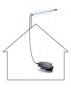 3G/4G/LTE/GSM Yagi antenni & induktiivinen sovitin matkapuhelimille & tableteille, 700-2100 MHz