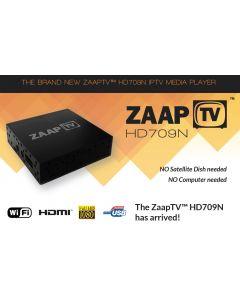 ZaapTV HD709N IPTV-digiboksi, yli 1200 kanavaa netin kautta + 2 vuoden tilaus