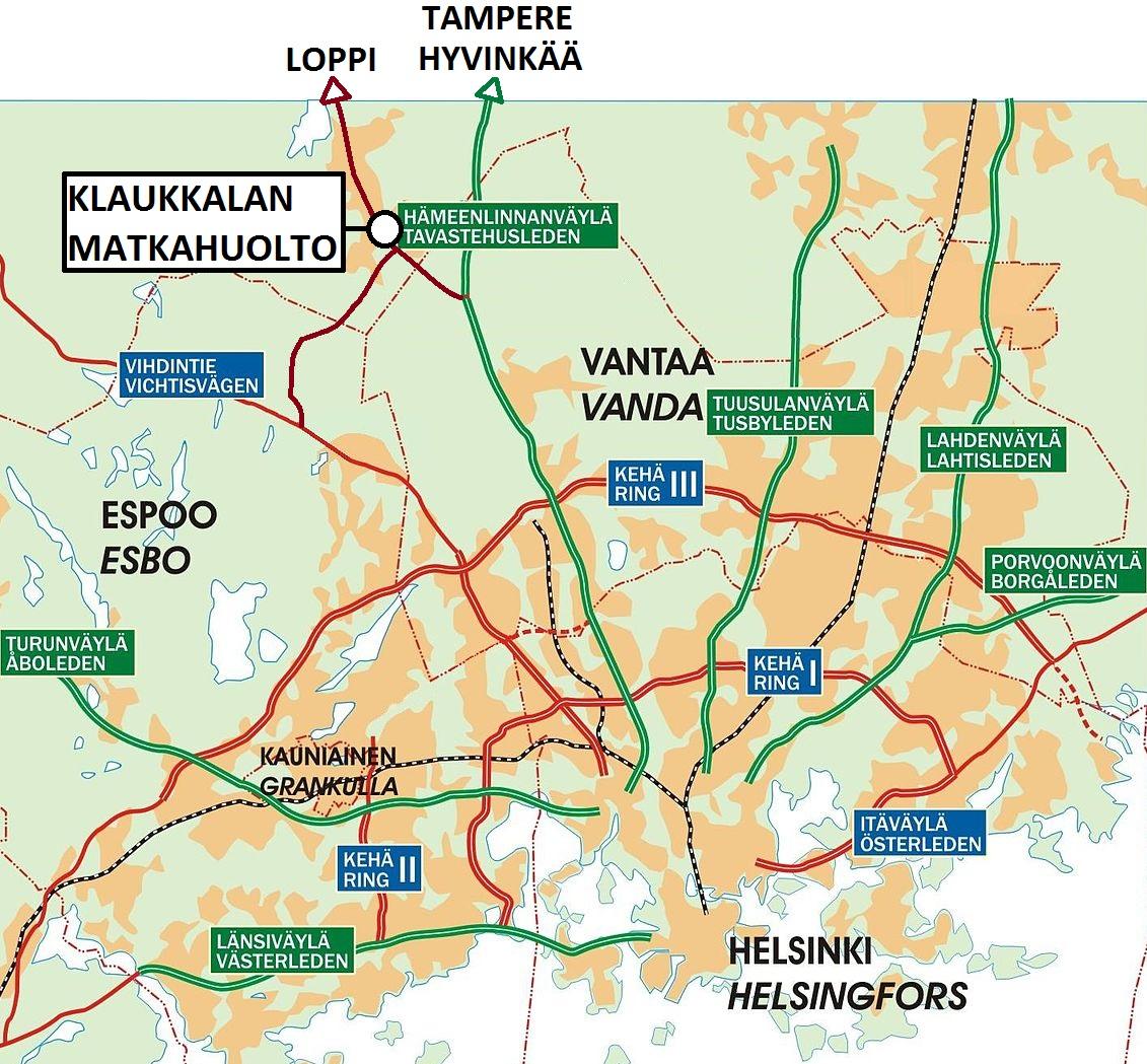 Pääkaupunkiseudun kartta